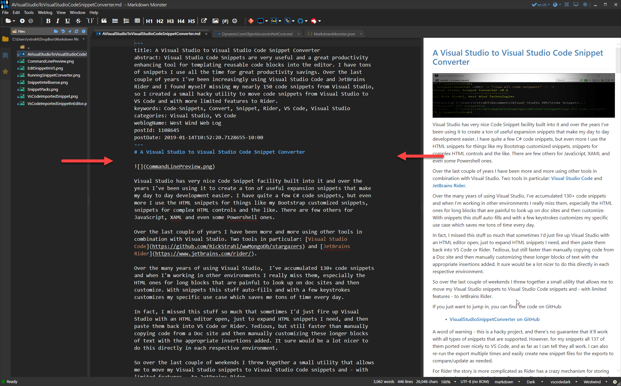 Markdown Text Size