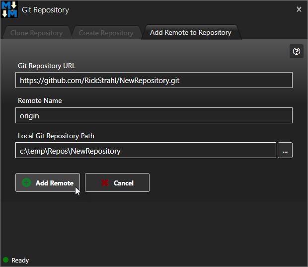 Git Integration - Markdown Monster Documentation